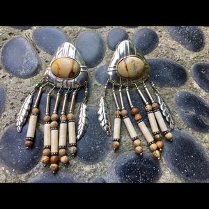 Vintage Southwestern Concho Dangle Earrings